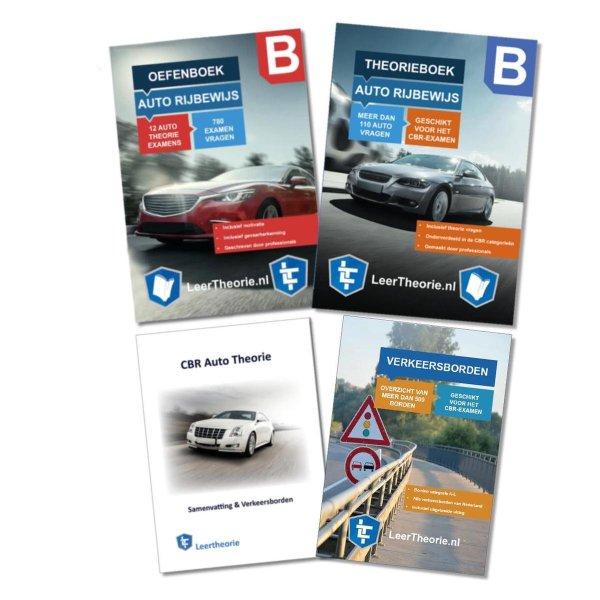 AutoTheorieboek 2021 - Auto Theorieboek Samenvatting - Verkeersbordenboekje en Auto Theorie Oefenboek