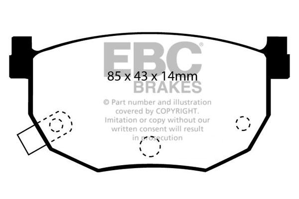 Klocki Hamulcowe EBC BLACK STUFF (DP528)