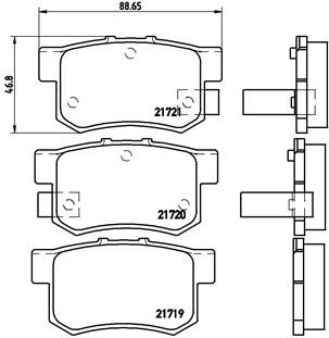 Klocki Hamulcowe BREMBO (P28022)