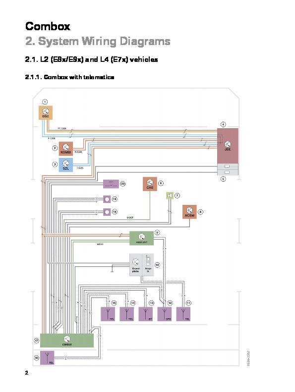 Bmw Combox System Wiring Diagrams Tis Service Manual