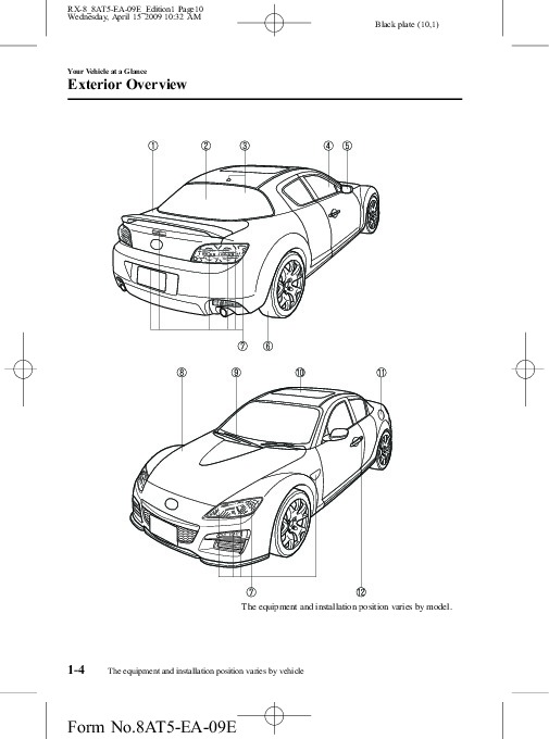 2010 Mazda RX 8 Owners Manual