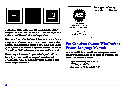 2001 GMC YUKON XL OWNERS MANUAL PDF
