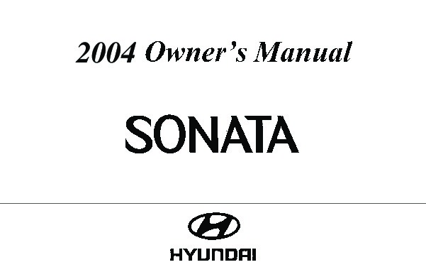 2004 Hyundai Sonata Owners Manual