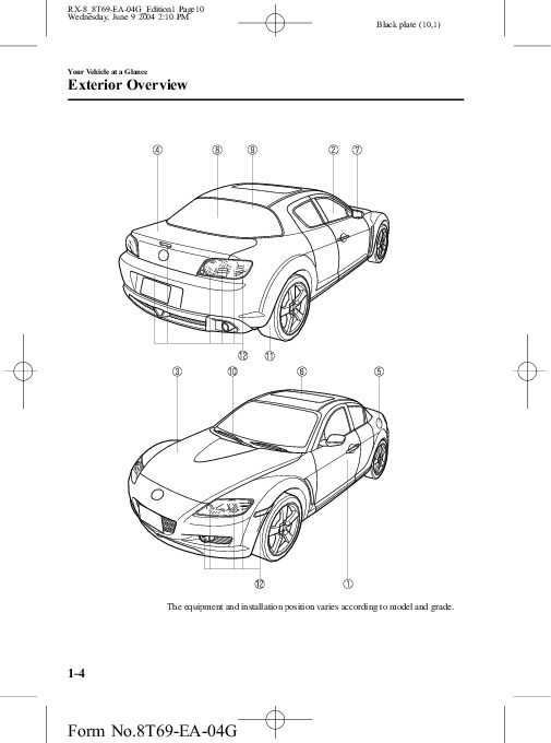 2005 Mazda RX 8 Owners Manual