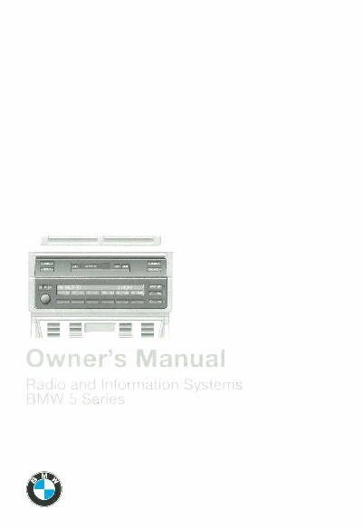 1997 BMW E38 740i 750iL Radio and Information System Manual
