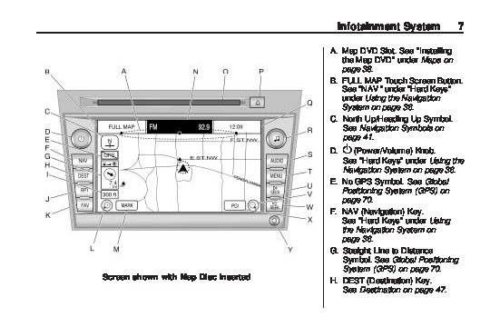 2010 Cadillac DTS Navigation System Manual