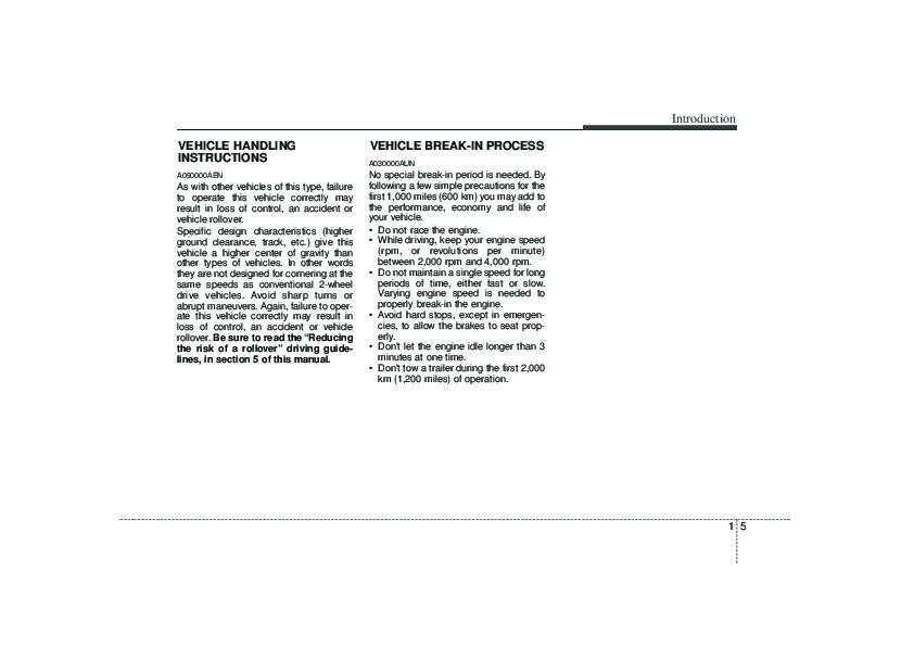 2010 Kia Borrego Owners Manual