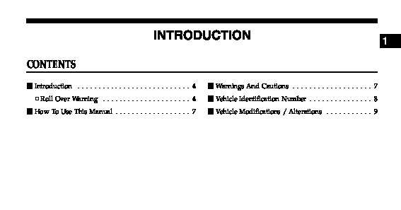 2006 Jeep Wrangler Owners Manual