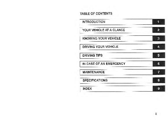 2005 Kia Sedona Owners Manual