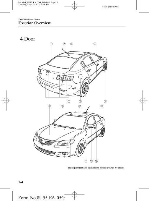 2006 Mazda 3 Owners Manual