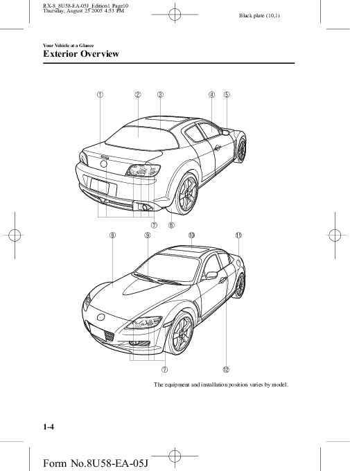 2006 Mazda RX 8 Owners Manual