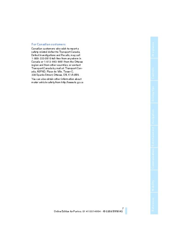 2008 BMW 1-Series 128i 135i E88 Owners Manual
