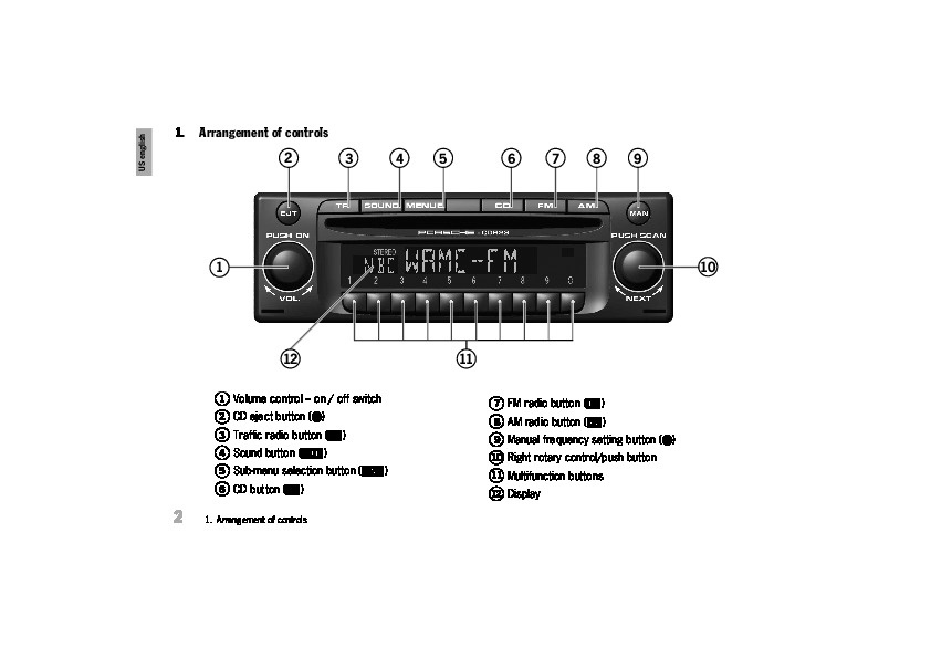 Porsche CDR 23 Audio Sound System Owners Manual