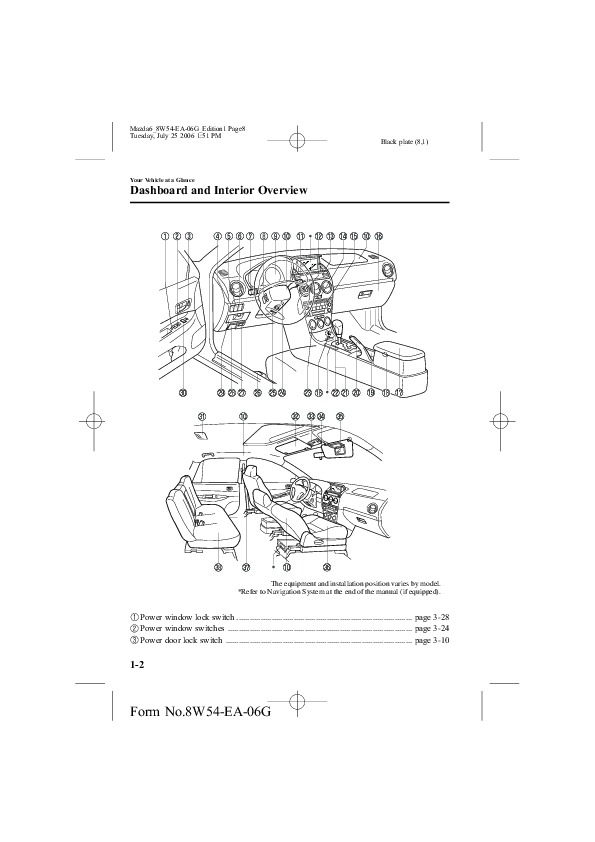 2007 Mazda 6 Owners Manual