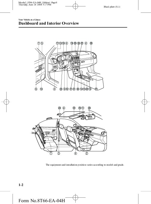 2005-Mazda-3-Owners-Manual-Guide-8 Yamaha G Golf Cart Wiring Diagram on