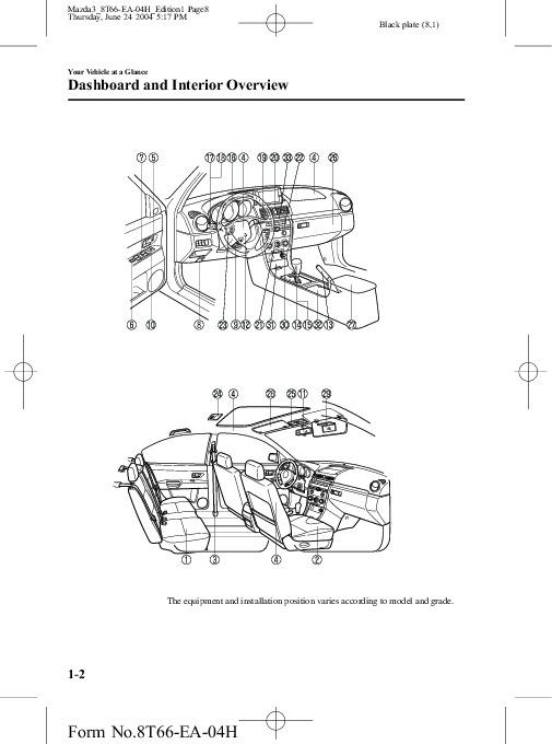 2005 Mazda 3 Owners Manual
