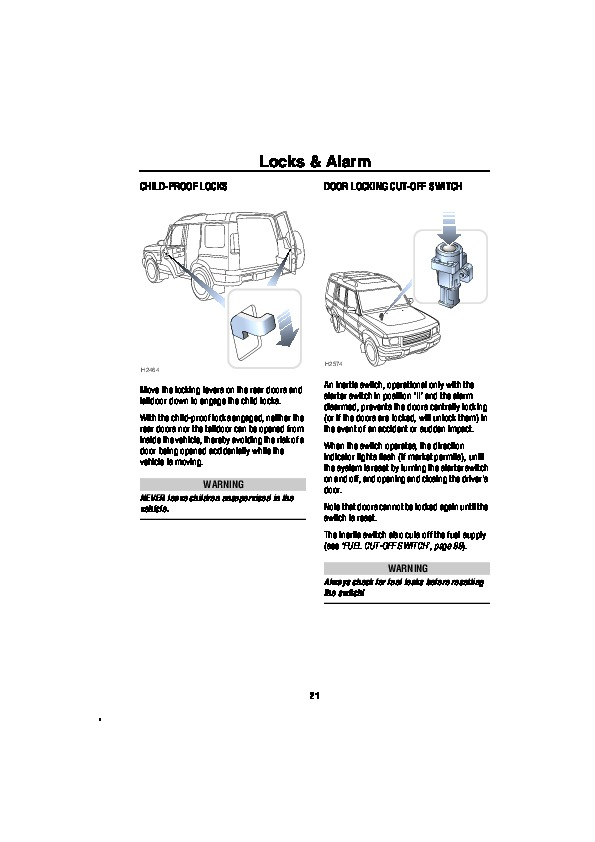 2001 Land Rover Discovery Series II Owners Owners Manual