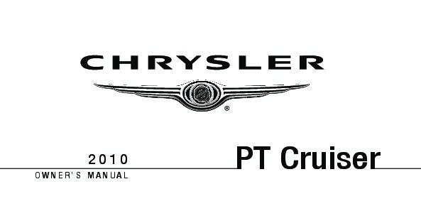 2010 Chrysler PT Cruiser Owners Manual