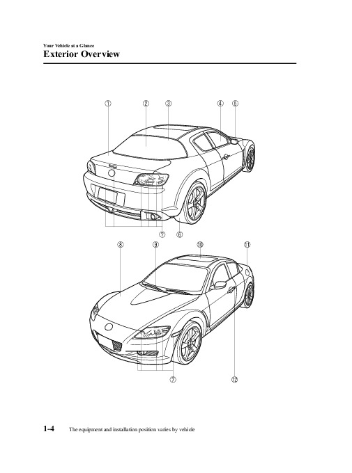 2008 Mazda RX 8 Owners Manual