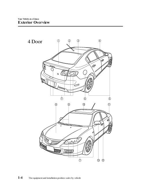 2009 Mazda 3 Owners Manual
