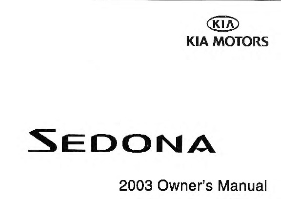 2003 kia sedona repair manual download