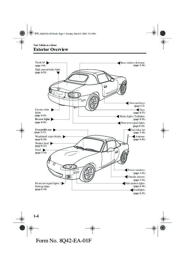 2002 Mazda MX 5 Miata Owners Manual
