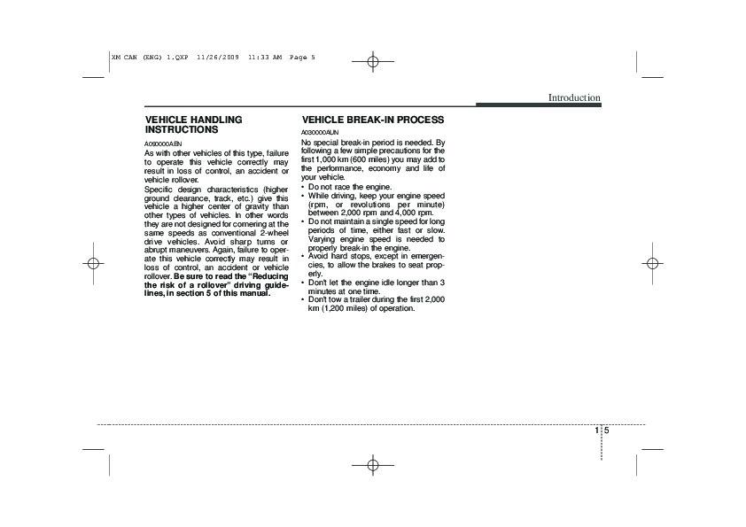 2010 Kia Sorento Owners Manual
