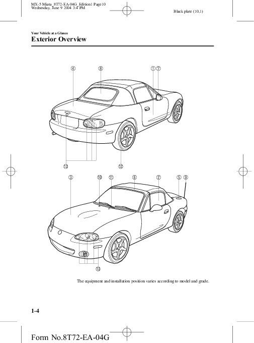 2004 Mazda MX 5 Miata Owners Manual