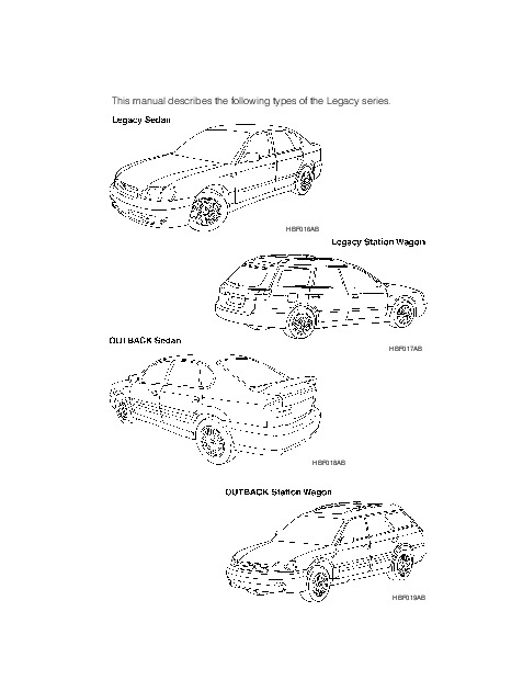 2002 Subaru Legacy Outback Owners Manual