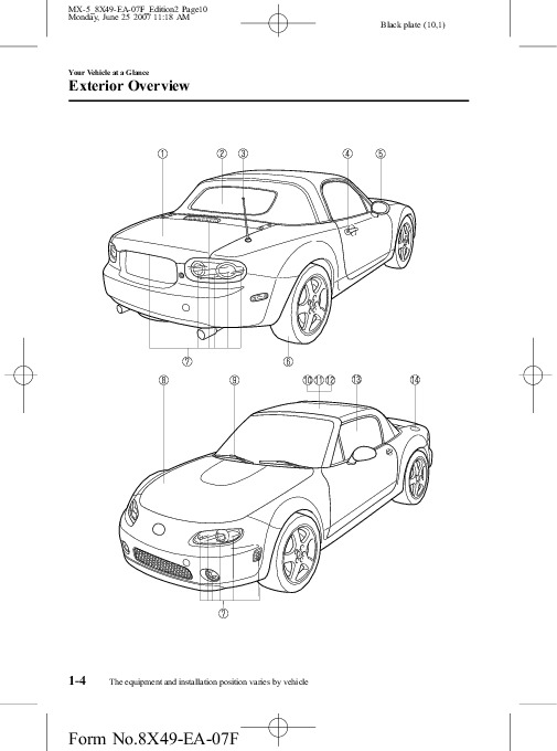 2008 Mazda MX 5 Miata Owners Manual
