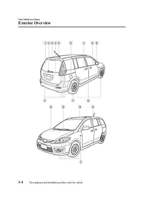 2008 Mazda 5 Owners Manual