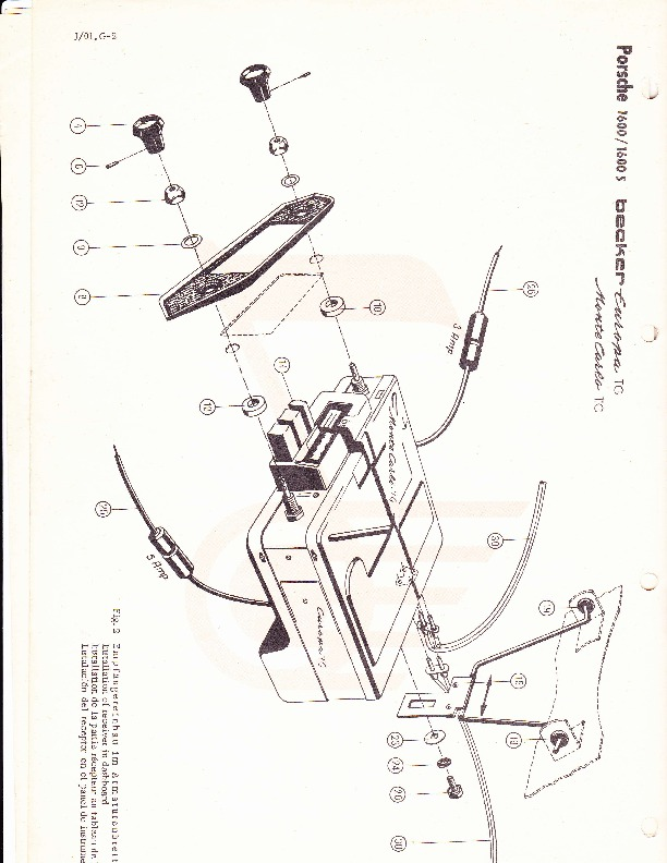 1960-1962 Porsche 1600 1600S Becker Audio Owners Manual