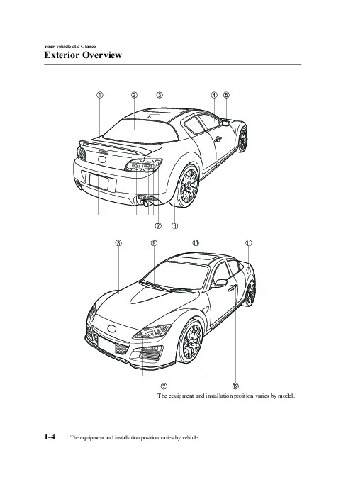 2009 Mazda RX 8 Owners Manual