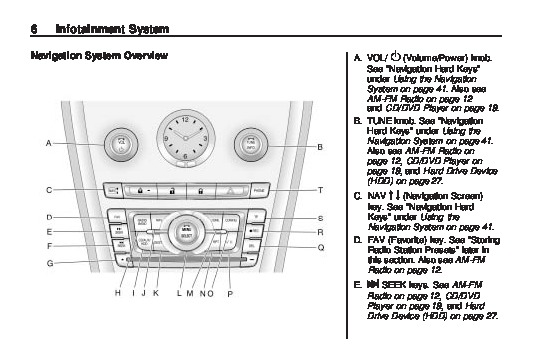 2010 Cadillac SRX Navigation System Manual
