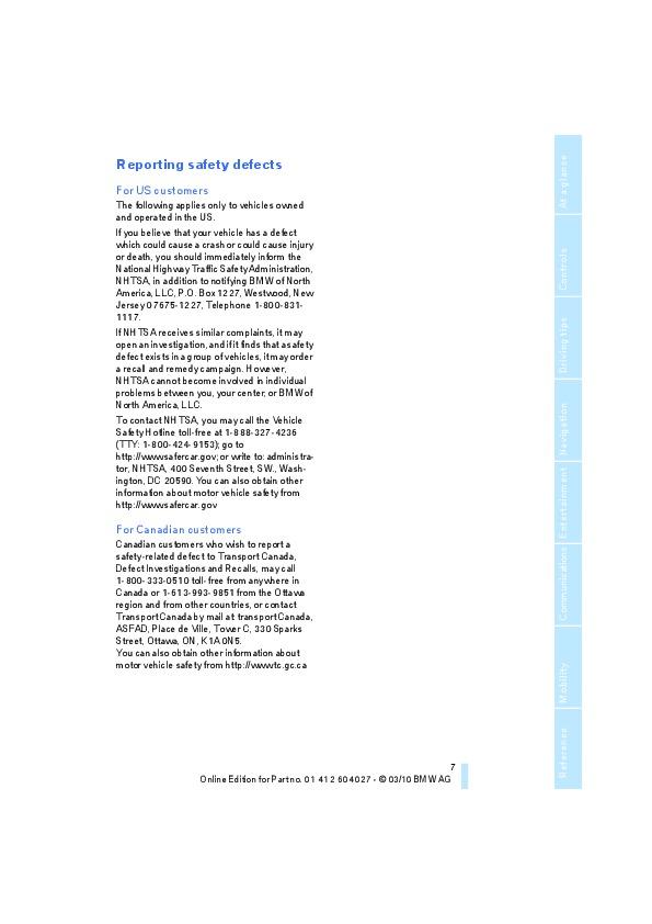 2011 BMW X5M X6M E70 E71 E72 Owners Manual