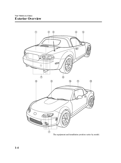 2006 Mazda MX 5 Miata Owners Manual