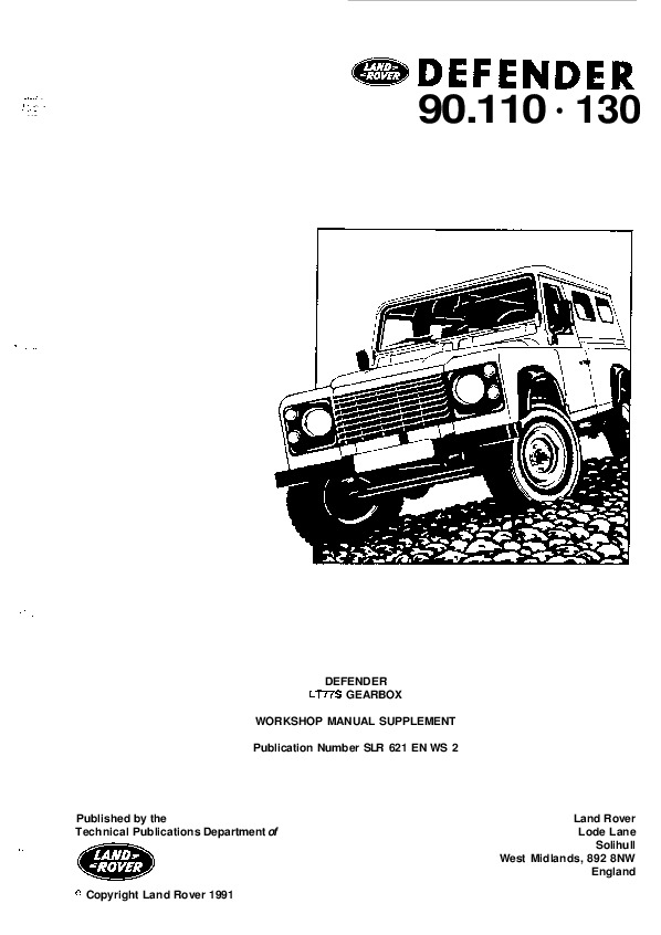 Land Rover Defender Owners Manual Pdf