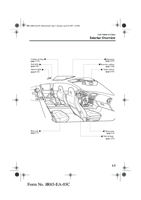2004 Mazda RX 8 Owners Manual