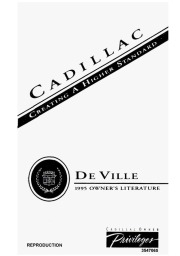 1995 Cadillac DeVille 4.9 L Owners Manual