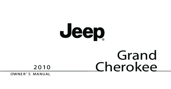 2010 Jeep Grand Cherokee Owners Manual