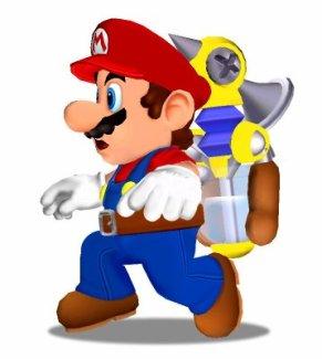 Mario et Jet dans Super Mario Sunshine