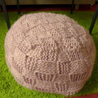 Pouf en laine