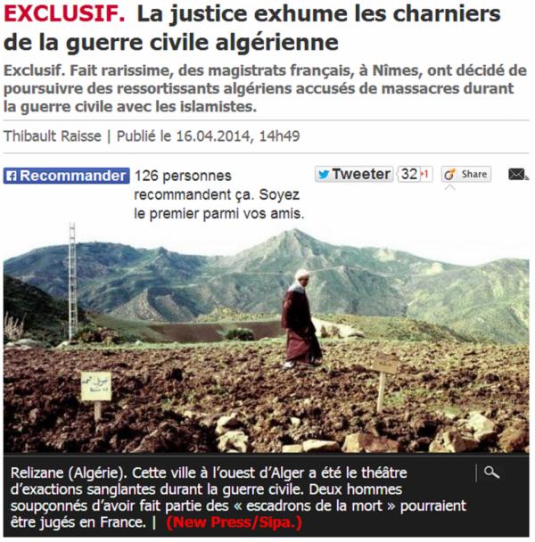 La justice exhume les charniers de la guerre civile algérienne