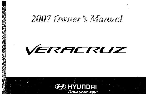 2007 Hyundai Veracruz Owners Manual