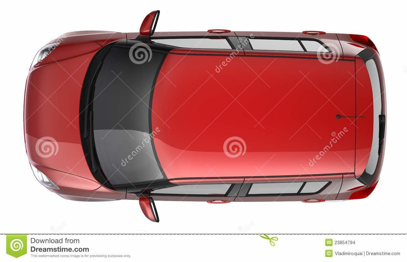Latest Compact Red Car Top View Stock Photo Image Of White Free Download