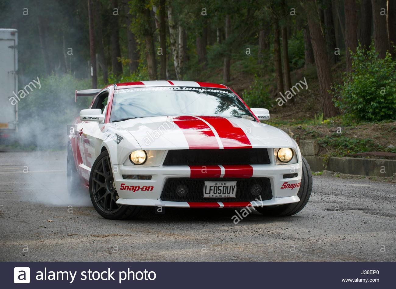 Latest 2005 Custom Ford Mustang American Muscle Car Stock Photo Free Download
