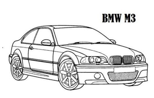 Latest High Performance Bmw Car M3 Models Coloring Sheet Free Download