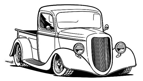 Latest Pick Up Hot Rod Cars Coloring Pages Kids Play Color To Free Download Original 1024 x 768