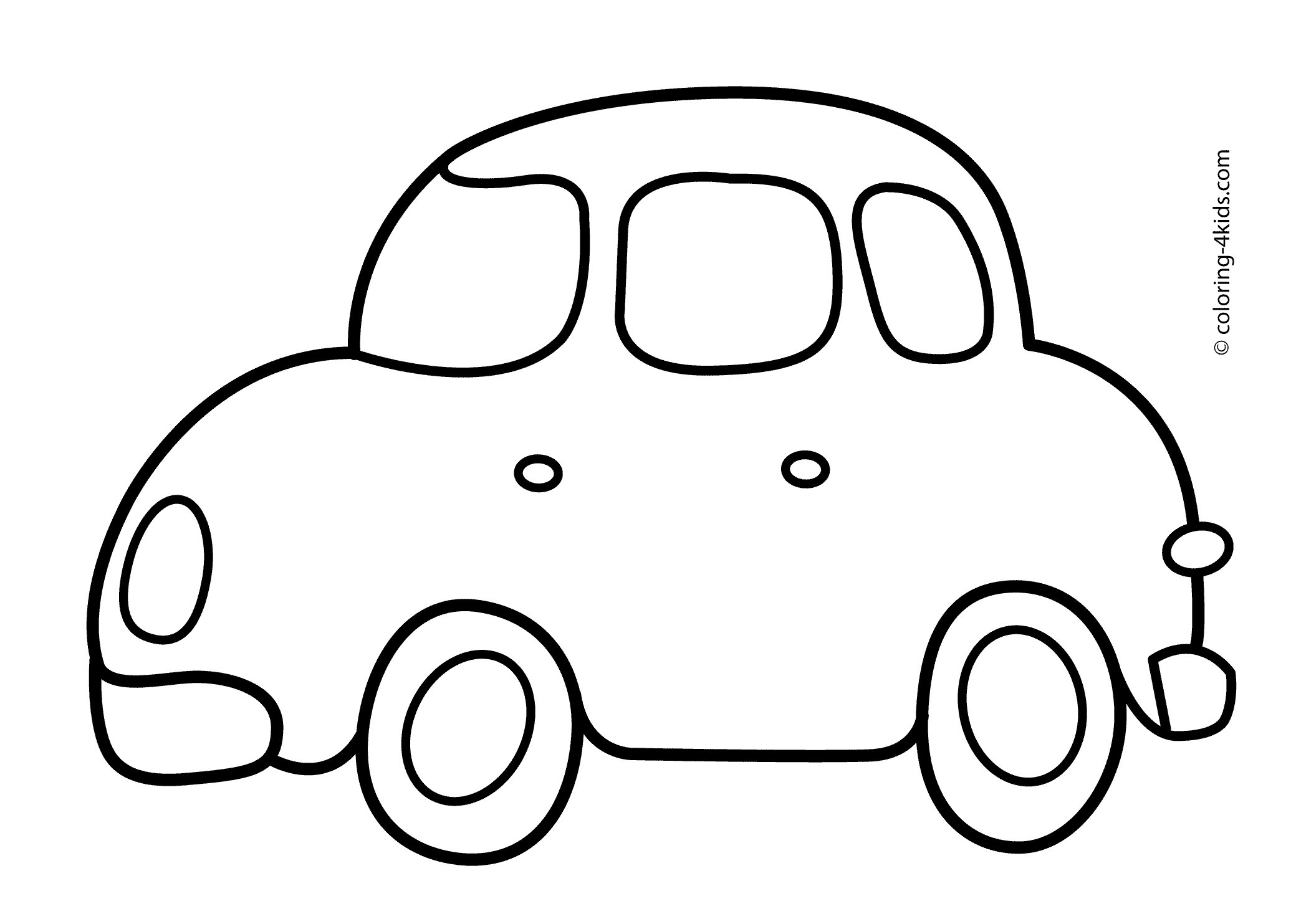 Latest Simple Car Transportation Coloring Pages For Kids Free Download Original 1024 x 768