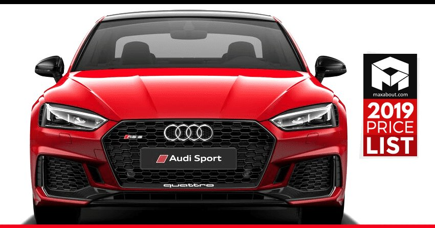 Latest 2019 Audi Cars Suvs Price List In India Full Lineup Free Download